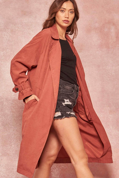 Double Agent Open-Front Trench Coat - ShopPromesa