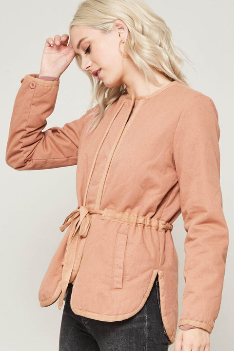 Slow Lane Quilted Drawstring Jacket - ShopPromesa
