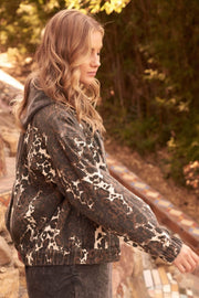 Concrete Jungle Leopard-Print Denim Jacket - ShopPromesa