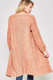 Wuthering Heights Two-Tone Cable Knit Cardigan - ShopPromesa