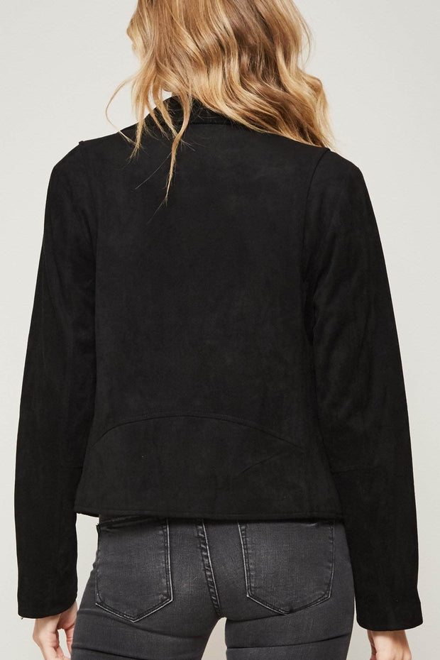Fully Loaded Vegan Suede Moto Jacket - ShopPromesa
