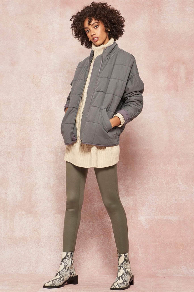 Softest Hour Zip-Up Quilted Jacket