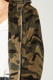 Hidden Agenda Camo Fleece Hooded Jacket - ShopPromesa