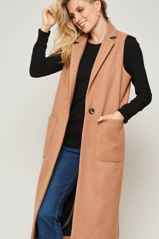 Sleeve Me Be Sleeveless Coat Vest - ShopPromesa