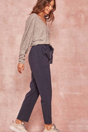 Square Pegs Cropped Plaid Belted Pants