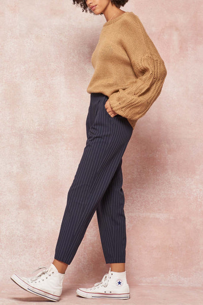Pinstripe Jungle Striped Pleated Pants