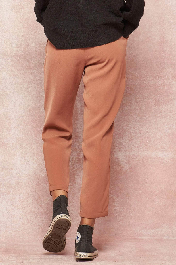 Skinny Dip Tapered Pleat-Front Pants - ShopPromesa