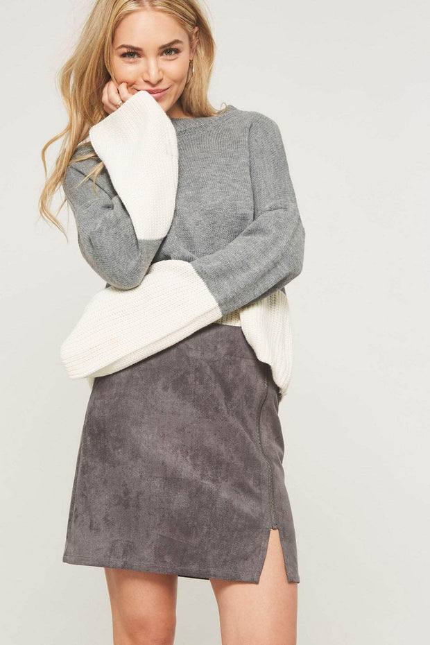 Smooth Operator Zippered Vegan Suede Mini Skirt - ShopPromesa