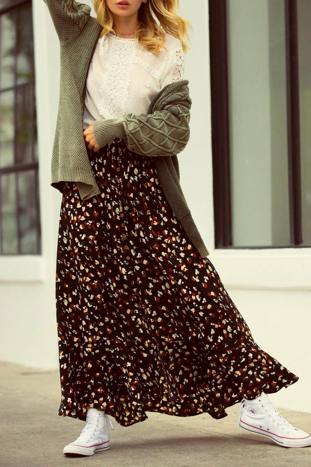 Love Me Lots Button-Front Floral Maxi Skirt - ShopPromesa