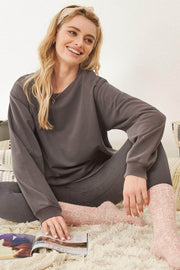 Homebody Solid French Terry Sweatshirt - ShopPromesa