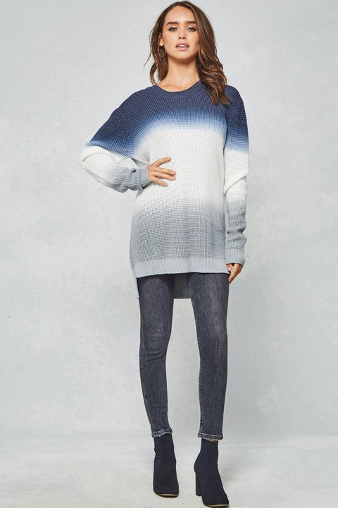 Storm Front Hooded Ombre Sweater - ShopPromesa