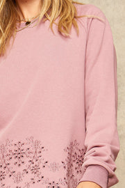 Pretty Please Eyelet Lace Sweatshirt