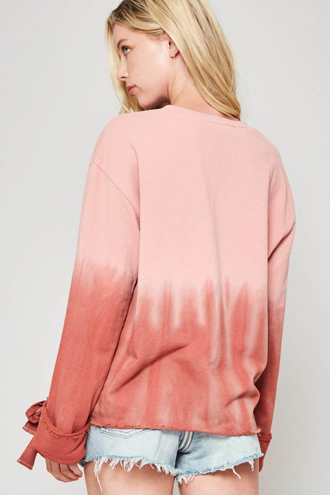 Perfect Storm Tie-Dye Raw-Edge Sweatshirt - ShopPromesa