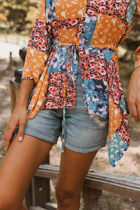 Scarborough Fair Floral Patchwork-Print Top - ShopPromesa