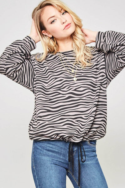 Into the Wild Zebra Drawstring Sweatshirt - ShopPromesa