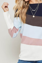 Beyond the Horizon Striped Knit Sweater - ShopPromesa