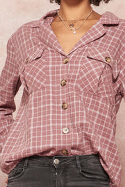 Reality Check Plaid Roll-Up Lapel Shirt