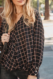 Fair and Square Plaid Gathered Shirt - ShopPromesa