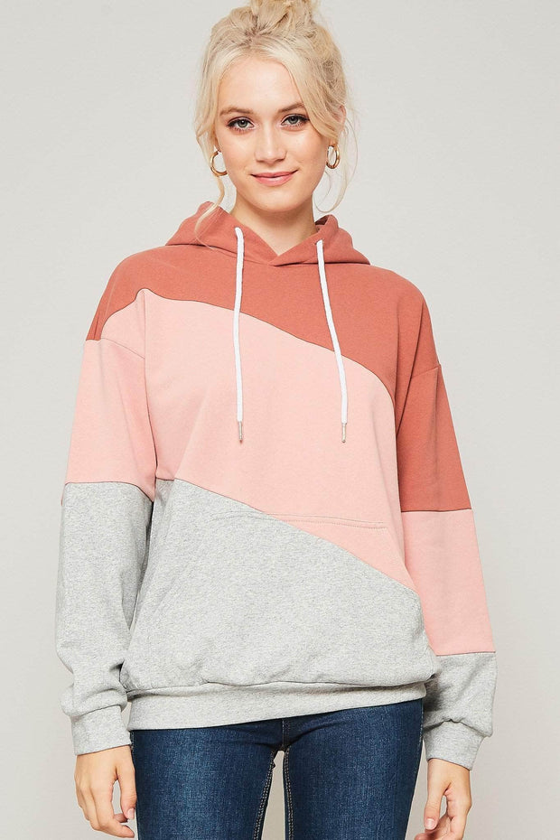 Around the Block Colorblock Kangaroo Hoodie - ShopPromesa