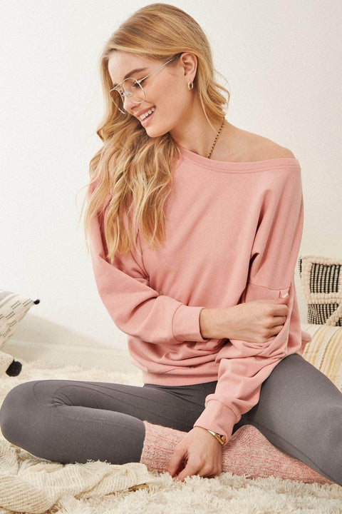Warmest Regards Lace-Up Back Sweatshirt - ShopPromesa