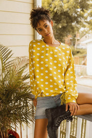 Double Bubble Polka Dot Drawstring Sweatshirt - ShopPromesa