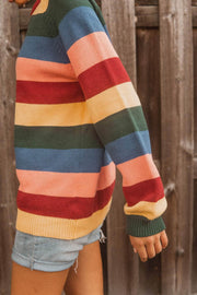 Chasing Rainbows Multicolor Striped Sweater - ShopPromesa