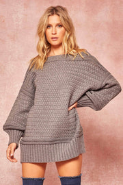 Promise Me Cable Knit Oversized Sweater