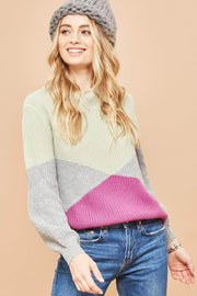 Point of View Geometric Colorblock Sweater - ShopPromesa