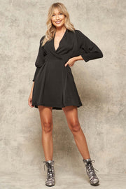 Luster for Life Textured Satin Mini Dress - ShopPromesa