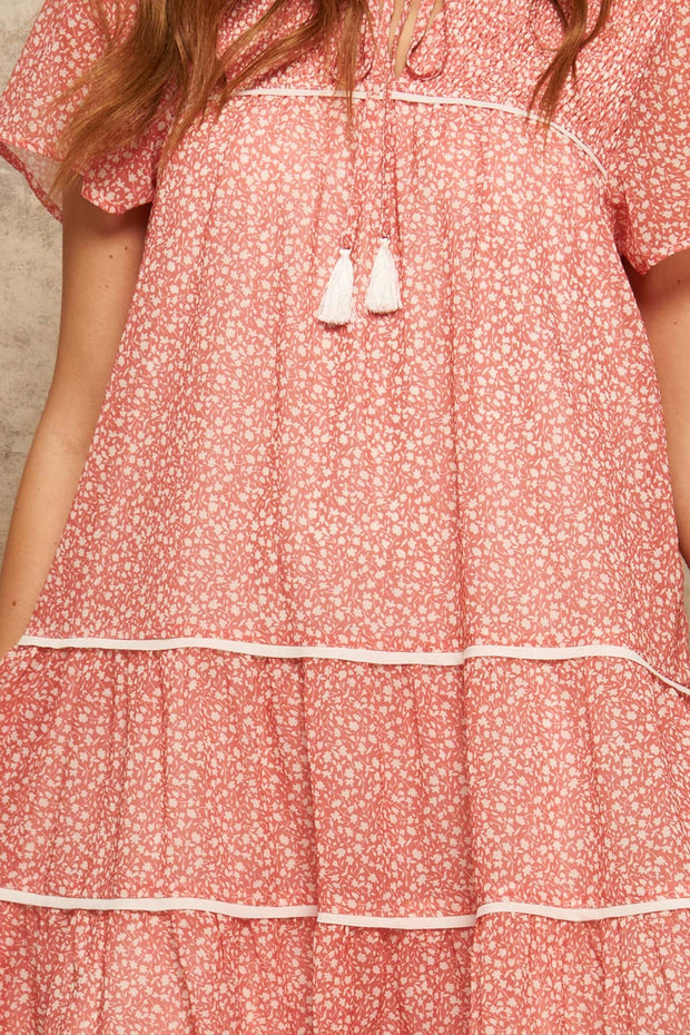Pretty Posies Floral Chiffon Babydoll Dress - ShopPromesa
