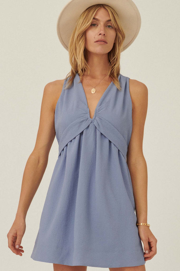 Sunshine Day Crepe V-Wire Mini Sundress - ShopPromesa