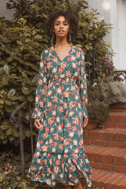Super Bloom Ruffled Floral Prairie Dress - ShopPromesa
