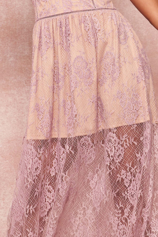Ever After Layered Eyelash Lace Maxi Dress - ShopPromesa