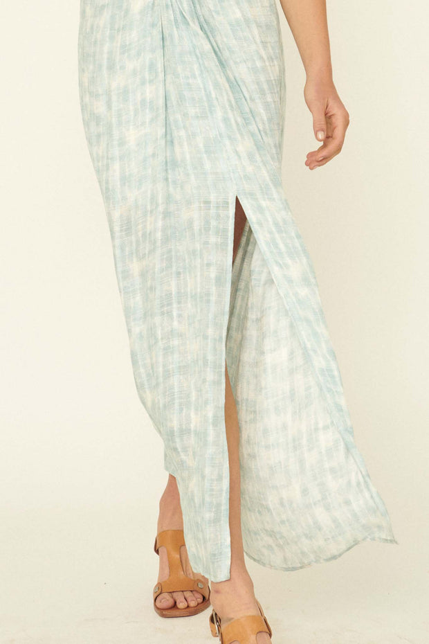Tidal Flow Knot-Front Tie-Dye Maxi Dress - ShopPromesa
