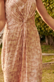 Tidal Flow Knot-Front Tie-Dye Maxi Dress