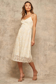 Splendid Harmony Floral Lace Midi Tea Dress - ShopPromesa