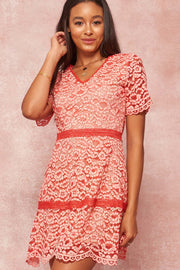 Sweet Infatuation Floral Lace Mini Dress - ShopPromesa