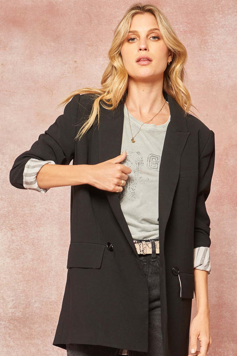 Next Level Oversized Double-Breasted Blazer - ShopPromesa