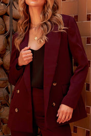 Suit Yourself Double-Breasted Boyfriend Blazer - ShopPromesa