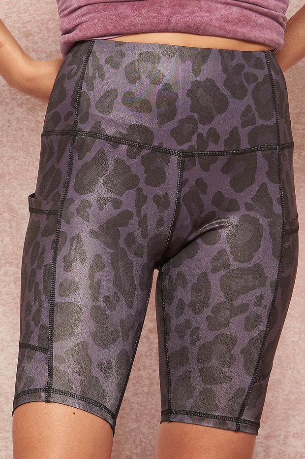 Untamed Spirit Leopard-Print Pocket Bike Shorts - ShopPromesa