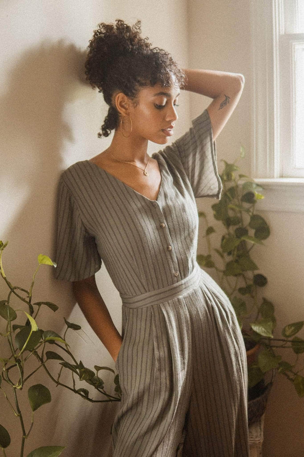 Finding Home Striped Wide-Leg Cropped Jumpsuit - ShopPromesa