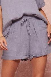 Carefree Days Crinkle Cotton Pocket Shorts