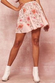 Blooming Love Floral Chiffon Pleated Mini Skirt - ShopPromesa