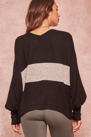 Love You More Brushed Knit Bishop-Sleeve Top