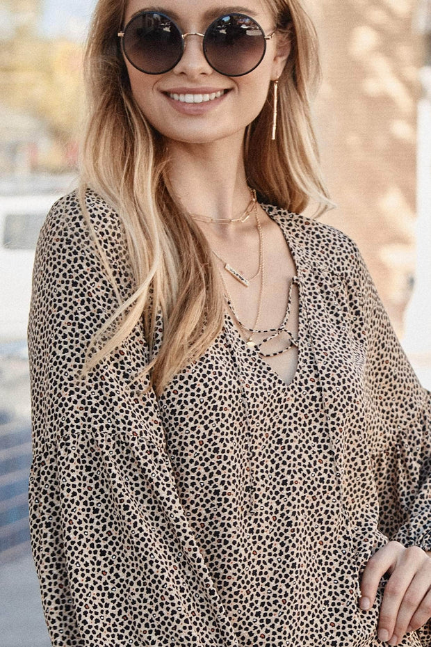 Wildly Free Animal-Print Peasant Top - ShopPromesa