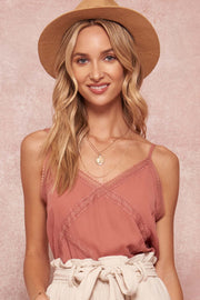 Moment in Time Lace-Trimmed Cami Top - ShopPromesa