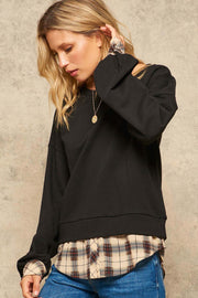 Off Campus Layered-Look Shirtail Sweatshirt