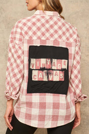 Vintage Canvas Graphic-Back Plaid Shirt - ShopPromesa