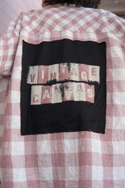Vintage Canvas Graphic-Back Plaid Shirt