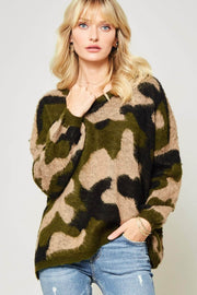 Urban Wilderness Camouflage Fuzzy Knit Sweater - ShopPromesa